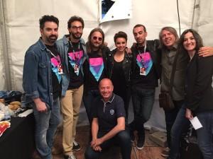Chenoa junto a toda la banda y Jorge Plané (Cadena 100). Foto de Jorge Plané